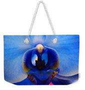 Blue Orchid Heart Weekender Tote Bag