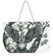 Blue Owl Weekender Tote Bag