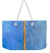 Blue Palm Weekender Tote Bag