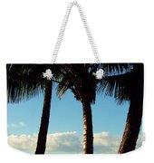 Blue Palms Weekender Tote Bag by Karen Wiles