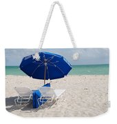 Blue Paradise Umbrella Weekender Tote Bag