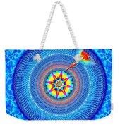 Blue Parrot Mandala Weekender Tote Bag