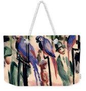 Blue Parrots Weekender Tote Bag