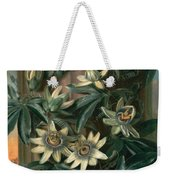 Blue Passion Flower For The  Temple Of Flora By Robert Thornton Weekender Tote Bag