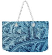 Extraordinary Hoarfrost Scallop Patterns In Blue Weekender Tote Bag