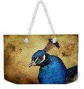 Blue Peacock Weekender Tote Bag