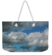 Blue Perfect Sky Sea Of Clouds From High Altitude Space Weekender Tote Bag