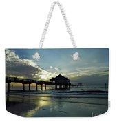 Blue Pier 60 Sunset Weekender Tote Bag