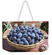 Blue Plums In A Basket Weekender Tote Bag