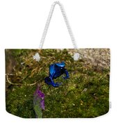 Blue Poison Arrow Frog Weekender Tote Bag