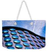 Blue Polka-dot Wave Weekender Tote Bag