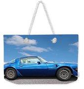 Blue Pontiac Trans Am 1978 Weekender Tote Bag