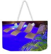 Blue Pool Weekender Tote Bag
