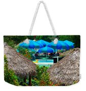 Blue Pool Umbrellas Weekender Tote Bag
