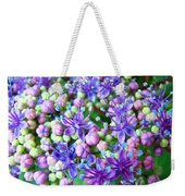 Blue Purple Hydrangea Flower Macro Art Weekender Tote Bag
