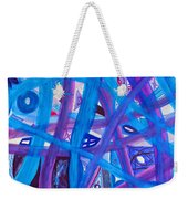 Blue Purple Paths  Weekender Tote Bag