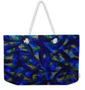 Blue Pyramid Weekender Tote Bag