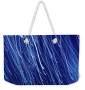 Blue Rain Abstract Weekender Tote Bag