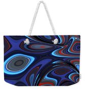 Blue Red Folds Weekender Tote Bag