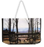 Blue Ridge Mountain Porch View Weekender Tote Bag