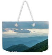 Blue Ridge Mountains View From Craggy Garden Weekender Tote Bag