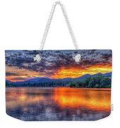 Blue Ridges Lake Junaluska Sunset Great Smoky Mountains Art Weekender Tote Bag