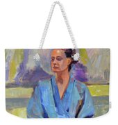 Blue Robe Weekender Tote Bag