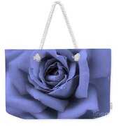 Blue Rose Abstract Weekender Tote Bag