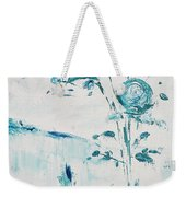 Blue Roses On A Table Weekender Tote Bag