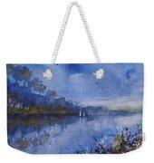 Blue Sail, Watercolor Painting Weekender Tote Bag