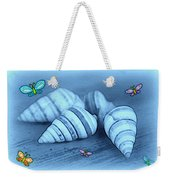 Blue Seashells Weekender Tote Bag