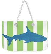 Blue Shark 2- Art By Linda Woods Weekender Tote Bag