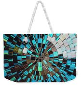 Blue Shiny Stones Gems In A Circular Pattern Weekender Tote Bag
