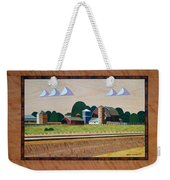 Blue Silo-marquetry Weekender Tote Bag