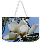 Blue Skies Magnolia Weekender Tote Bag