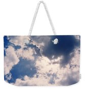 Blue Sky And Clouds Weekender Tote Bag