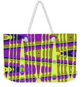 Blue Sky And Color Squares Abstract,#4 Weekender Tote Bag