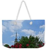 Blue Sky And Roses Weekender Tote Bag