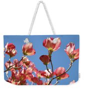 Blue Sky Art Prints Pink Dogwood Flowers 16 Dogwood Tree Art Prints Baslee Troutman Weekender Tote Bag