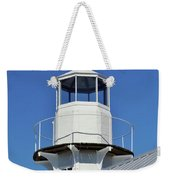 Blue Sky At The Lighthouse Weekender Tote Bag