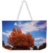Blue Sky Autumn Weekender Tote Bag
