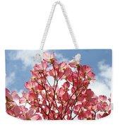 Blue Sky Clouds Landscape 7 Pink Dogwood Tree Baslee Troutman Weekender Tote Bag