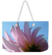 Blue Sky Floral Art Print Pink Dahlia Flower Baslee Troutman Weekender Tote Bag