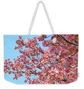 Blue Sky Floral Art Print Pink Dogwood Tree Flowers Baslee Troutman Weekender Tote Bag
