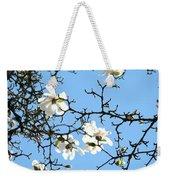 Blue Sky Floral Art White Magnolia Tree Weekender Tote Bag