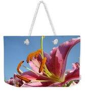 Blue Sky Florals Art Pink Calla Lily Blooming Baslee Troutman Weekender Tote Bag
