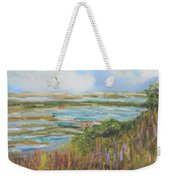 Blue Sky Over Fort Hill Weekender Tote Bag