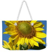 Blue Sky Sunflower Day Weekender Tote Bag