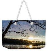 Blue Sky Sunrise On The Marsh Weekender Tote Bag