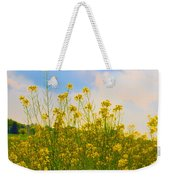 Blue Sky Yellow Flowers Weekender Tote Bag